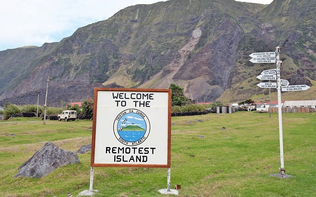 Tristan da Cunha. Ảnh: Telegraph.